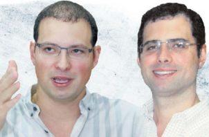 Hermanos Ricardo Alberto  y Luis Enrique Martinelli Linares, diputados del Parlacen. Archivo