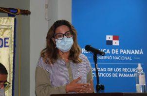 Flor Torrijos es la administradora de la Arap.