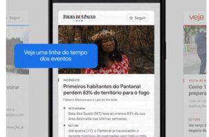 News Showcase consiste en paneles de historias que aparecerán en Google News.