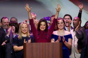 """Gobernadora de Michigan, la demócrata Gretchen Whitmer, agradeció a los agentes """"que arriesgaron su vida para defender"""" la de su familia. FOTO/EFE"""