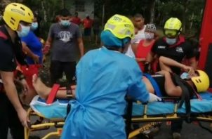 Fue trasladado en una ambulancia a la Policlínica Pablo Espinoza en Bugaba. Foto: Mayra Madrid.