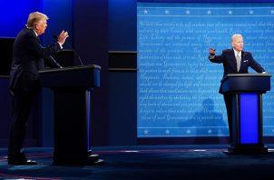 Donald Trump y Joe Biden se enfrentaron el pasado 30 de septiembre en el primer debate presidencial. FOTO/EFE