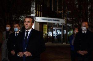 """El presidente Emmanuel Macron pidió """"actuar muy rápidamente sobre acciones concretas"""", señaló una fuente del Elíseo a la prensa tras la reunión. FOTO/EFE"""