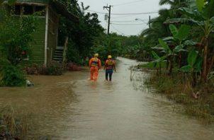 El río Chiriquí Viejo se desbordó, informó el Sinaproc. Foto: José Vásquez.