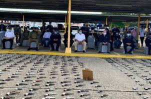 Autoridades panameñas destruyen más de un centenar de armas de fuego.