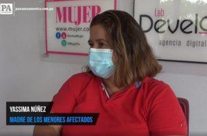 Yassima Núñez, madre de cuatro niños que sufren de una enfermedad rara