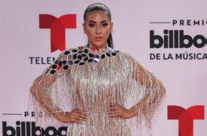 Jacky Guzmán acompañó a su pareja, Dimelo Flow, en los Premios Latin Billboard. Foto: Instagram