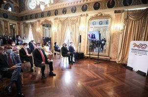 Las actividades en las que participó el presidente Laurentino Cortizo se realizaron de manera virtual.
