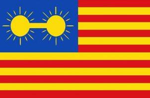 Modelo de bandera diseñado por Philippe Jean Bunau-Varilla para Panamá.