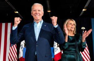Biden, quien aventaja al presidente de EE.UU., Donald Trump, por 248 delegados a 214 en el Colegio Electoral. Foto: EFE
