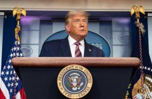 La campaña de Donald Trump ha presentado cuatro acciones legales para desafiar el escrutinio en Pensilvania, de las que ha ganado dos, aunque no ha logrado hasta ahora frenar el conteo o invalidar votos. Foto: EFE