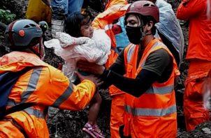 Más de mil 600 panameños están sin hogar tras fuertes lluvias. Foto: Cortesía