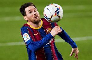 Leo Messi  no fue titular este sábado.