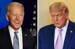 Joe Biden lidera, actualmente, el conteo frente a Trump en cuatro estados. Foto: EFE