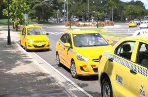 Los taxis solo podían circular en días específicos, según el último dígito de la placa.