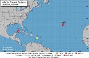 La tormenta subtropical Theta ha roto con mucho los vaticinios de la gubernamental Administración Nacional de Océanos y Atmósfera (NOAA) para la actual temporada, sobre la que avisó que ya sería de mayor actividad ciclónica y con hasta 17 tormentas con denominación.
