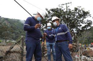 Setenta y cinco personas han tenido que estar en campo para solucionar los daños a la red. Cortesía