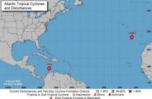 Iota se moverá por el centro del mar Caribe durante los dos próximos días hasta que se aproxime a las costas de Nicaragua y el noreste de Honduras el lunes, indicó el observatorio. Foto: EFE