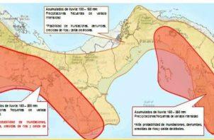 Se prevé acumulados significativos de lluvias hasta el martes 17 de noviembre.
