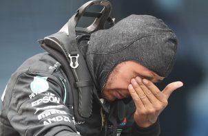 Lewis Hamilton lloró de la emoción.