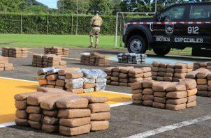 El Senan ha logrado este año el decomiso total de 42,406 paquetes de sustancias ilícitas. Foto: Cortesía.