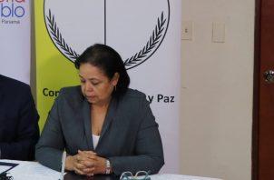 Lidia Maribel Jaén coordinadora del Foro Pro Reformas Electorales.