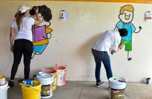 Jornada de limpieza y pintura al Centro de Atención Integral a la Primera Infancia, Arrullito Mío.
