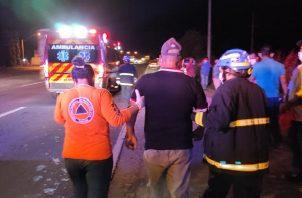 Los heridos fueron llevados a diversos centros médicos para las evaluaciones correspondientes.