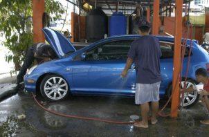 Lava auto tendrán sistema de reciclaje.