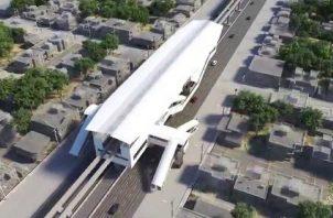 Perspectiva de lo que será una estación de la Línea 3 del metro.