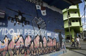En las paredes del barrio de El Chorrillo se recuerda la invasión de Estados Unidos a Panamá, ocurrida el 20 de diciembre de 1989. Foto: EFE