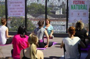 Sesión de relajación y meditación. Foto: Festival Natural