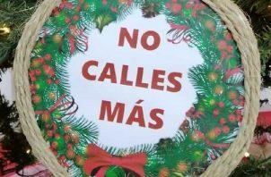 """""""No calles más"""". Foto: Cortesía"""