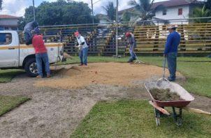 El objetivo de estos trabajos es que los deportistas que están en la Pre- Selección juvenil y la Pre- Poni tengan un sitio de entrenamientos.