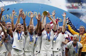 Estados Unidos de es la actual campeón de fútbol femenino. Foto:EFE