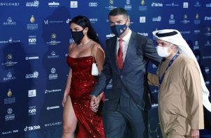 Cristiano a su llegada a la gala de entrega de los premios.