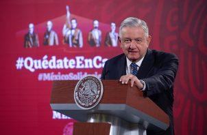 El presidente de México, Andrés Manuel López Obrador, hizo el anuncio. Foto: EFE