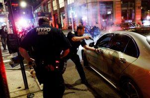 Nueva York es una de las urbes estadounidenses en que aumentaron las muertes violentas este año 2020. Foto: EFE