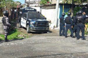 La Policía Nacional se mantiene realizando operativos en Veraguas. Foto: Melquiades Vásquez A.