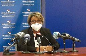 La viceministra de salud, Ivette Berrio, ha estado al frente del tema de las vacunas.