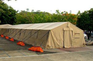 El hospital campaña en San Miguelito estará ubicado en los predios del Hospital San Miguel Arcángel. Foto cortesía