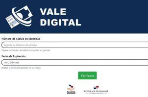 Aprueban fondos para pago del mes de enero del Vale Digital.