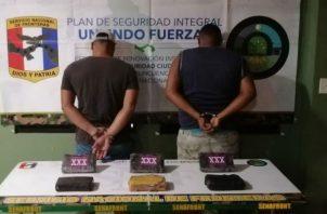 La supuesta droga iba oculta en un camión repleto de arroz. Foto: Cortesía.