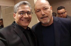 Rubén Blades y Carlos Pérez-Bidó. Foto: IG @ruben.blades