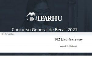 Página web del Ifarhu.