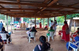 En la comarca Ngäbe Buglé se hizo entrega de alimentos, leche fortificada y artículos de primera necesidad.