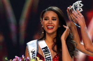 Miss Universo 2018, la filipina Catriona Gray. Foto/EFE