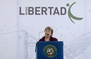 La Alta Comisionada de las Naciones Unidas para los Derechos Humanos, Michelle Bachelet, inauguró hoy oficialmente el Museo de la Libertad y los Derechos Humanos en Panamá.