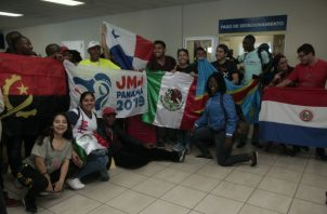Peregrinos llegan a Panamá para la JMJ.