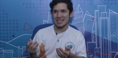 Eduardo González viajó a Panamá desde el estado de Aragua, en Venezuela, como voluntario.  Víctor Arosemena